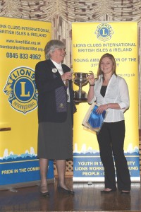 2010 Winner,  RebeccaBellworthy with District Governor Judith Goodchild