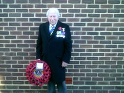 Lion President on Remembrance Sunday 2011