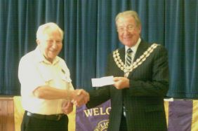 A cheque for the Mayors Charity