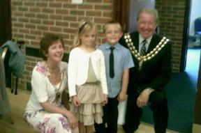 Craig & Amy with the Mayor & Mayoress of Fareham
