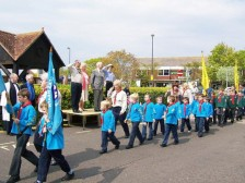Cub Scouts march past CNV00101
