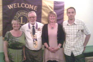DG Ron Twining with 3 new Crofton Lions  Sept 2011