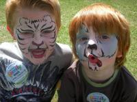 Fred and Alfie face paint