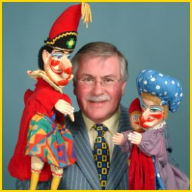 Geoffrey with Mr Punch and Judy