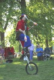 Kevin the Jester on Unicycle