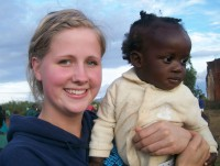 Rebecca and Baby Mercy at the ophanage in Malawi