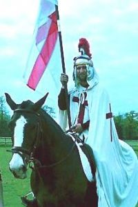 Matthew King as The Spirit of St George