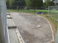 5 ton of stones laid to form foundation Outdoor Gym 2 & 3 012