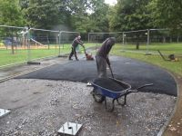 Race to lay the tarmac Outdoor Gym 2 & 3 019