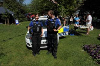 PCSO Emma Shore and PCSO Andy Leeks