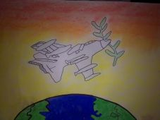 Peace Poster by Jack Gilbert Age 11
