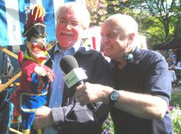 Geoffrey Gould & Punch with Roger Hammett of BBC Radio Solent