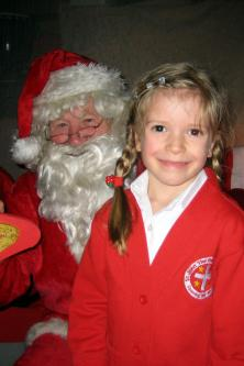 Santa at St John School