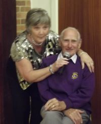 Hazel with Lion Peter  Senior Citizens Party 2013 024