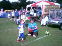 Stubbington Fayre    Suzanne at the Target Football        AUGUST 2011 017