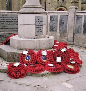 War Memorial and Poppies Fareham  CNV00049