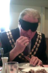 World Sight Day 13 October 2011 021 Mayor eating