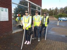 World Sight Day Oct 2014 The walk begins (Holly, Stuart and James 003