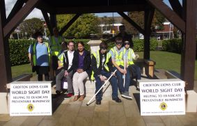World Sight Day Oct 2014 The group resting at the War Memorial 024