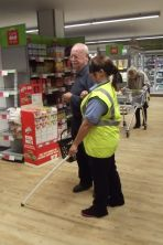 World Sight Day Oct 2014 Tonie with a Very helpful customer 029