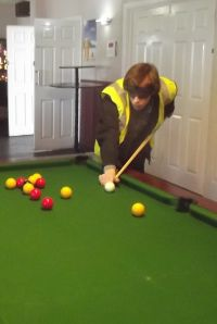 World Sight Day Oct 2014 James playing pool with only verbal directions 052