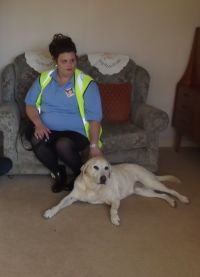 World Sight Day Oct 2014 Rachel with Lennie, the Guide Dog 074