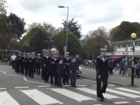 Cadets from T.S.Tormentor, Warsash Sea Cadets, escorting St.George