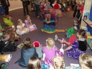 Rainbow Blue story time in the Library